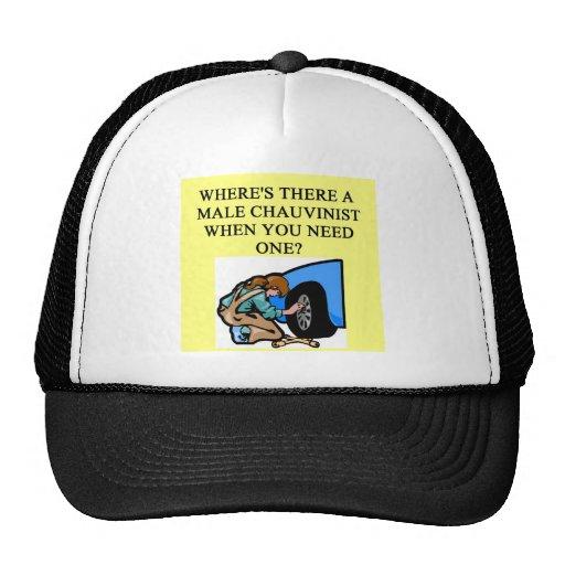 feminist joke mesh hat