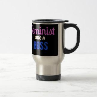 Feminist Like A  Boss 15 Oz Stainless Steel Travel Mug