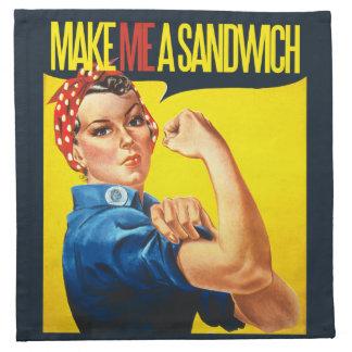 Feminist Make me a Sandwich Napkins