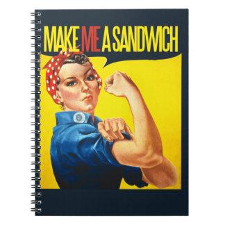 Feminist Make me a Sandwich Note Books