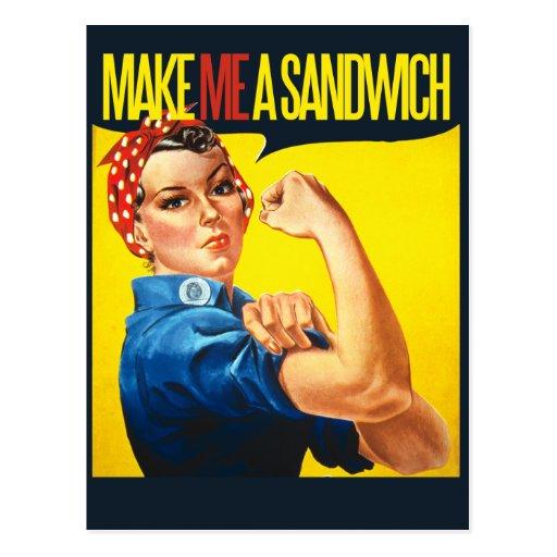 Feminist Make me a Sandwich Postcards