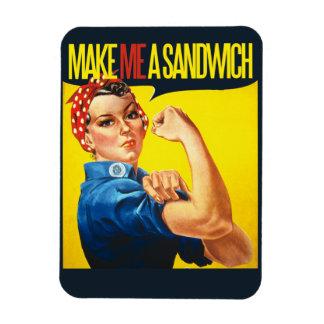 Feminist Make me a Sandwich Rectangular Photo Magnet