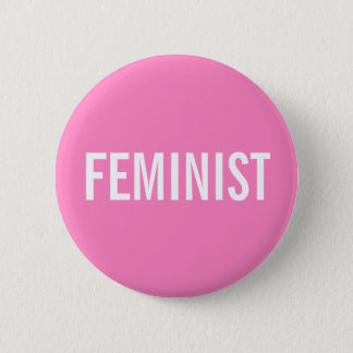 Feminist Pink Button