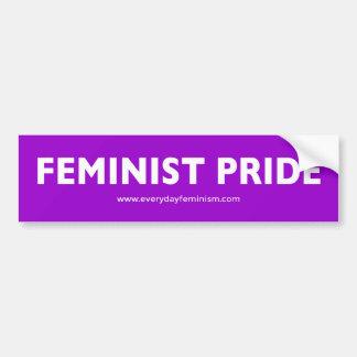 'FEMINIST PRIDE' Bumper Sticker [Purple]