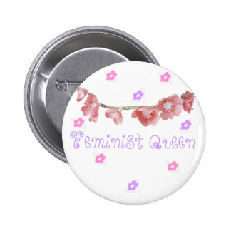 feminist queen (◕‿◕✿) 2 inch round button