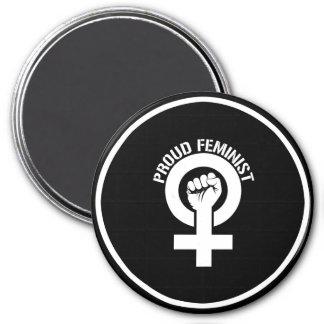 Feminist Resistance - Proud Feminist --  white -.p Magnet