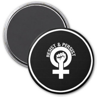 Feminist Resistance - Resist and Persist --  white Magnet