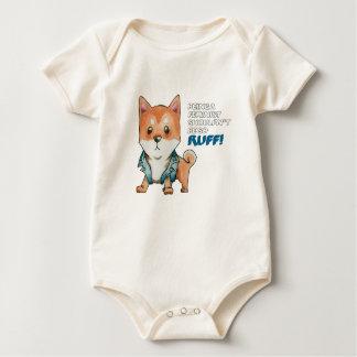 Feminist Shiba Inu Dog Watercolor Painting Baby Bodysuit