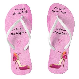 Feminist slogan flip flops