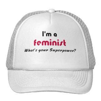 Feminist super power slogan trucker hat