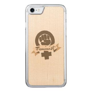 Feminist symbol carved iPhone 7 case