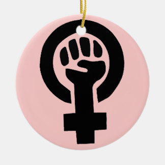 Feminist Symbol Ceramic Ornament