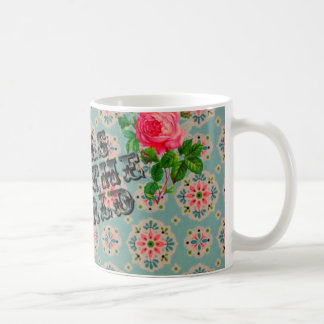 Feminist vintage wallpaper rose mug