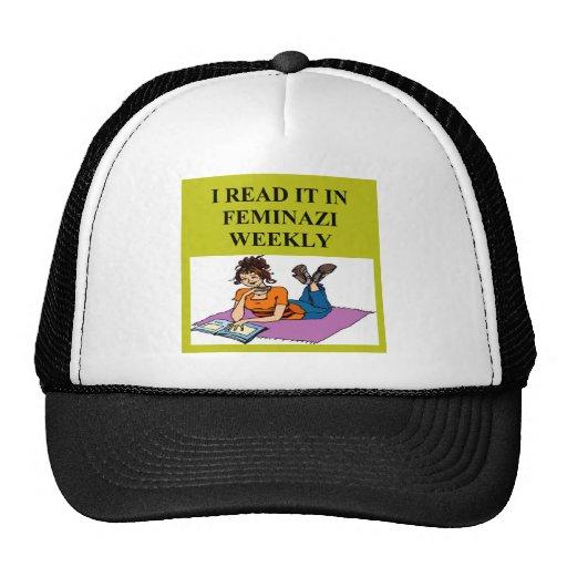 feminist warning joke trucker hat