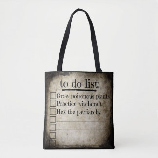 Feminist Witch To Do List Tote Bag