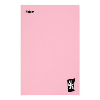 Feminist women female girl me too equal woman stationery