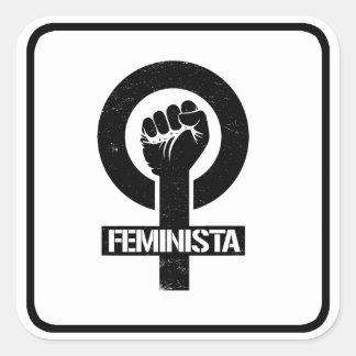 FEMINISTA --  SQUARE STICKER