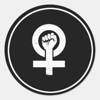 FEMINISTA --  white - Classic Round Sticker