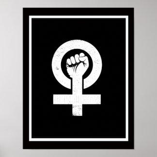 FEMINISTA --  white - Poster