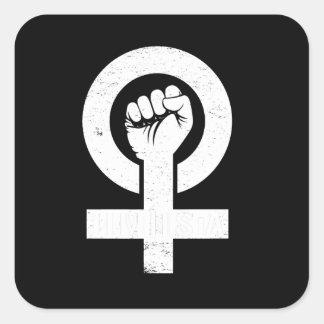 FEMINISTA --  white - Square Sticker