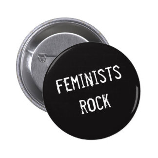 Feminists Rock 2 Inch Round Button