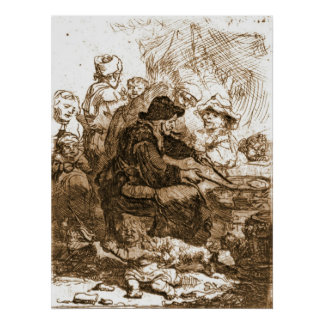 Femme 1660 de crêpe poster