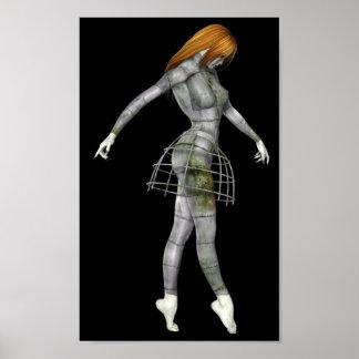 Femme 1 de Biomechannequin - mannequin de 3D Goth Poster