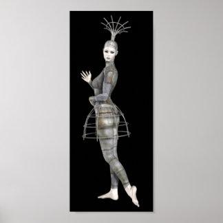 Femme 2 de Biomechannequin - mannequin de 3D Goth Poster