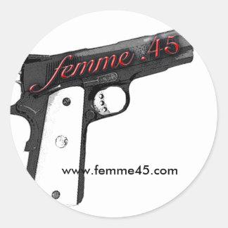 Femme.45 Logo Sticker