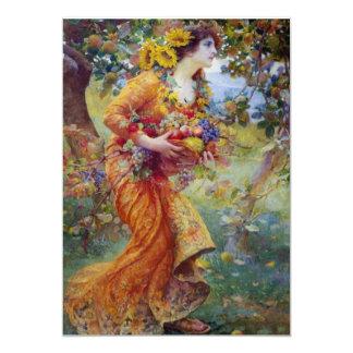 Femme avec la générosité d'été carton d'invitation  12,7 cm x 17,78 cm