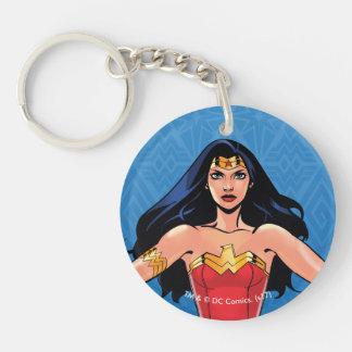 Femme de merveille - combat pour la paix porte-clé rond en acrylique double face