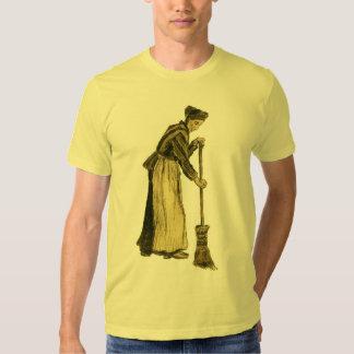 Femme de Van Gogh avec des beaux-arts de balai Tee Shirt