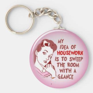 Femme drôle des années 50 mon idée de porte - clé  porte-clé rond