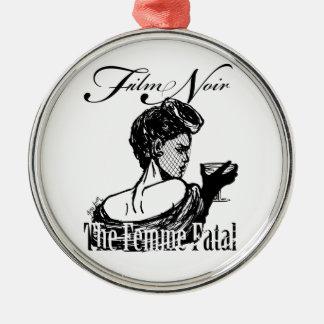 Femme Fatal Metal Ornament