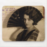 Femme Fatale in Sepia Mouse Pad
