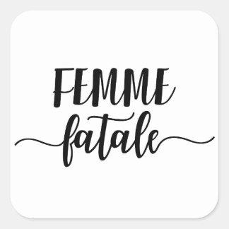 femme fatale square sticker