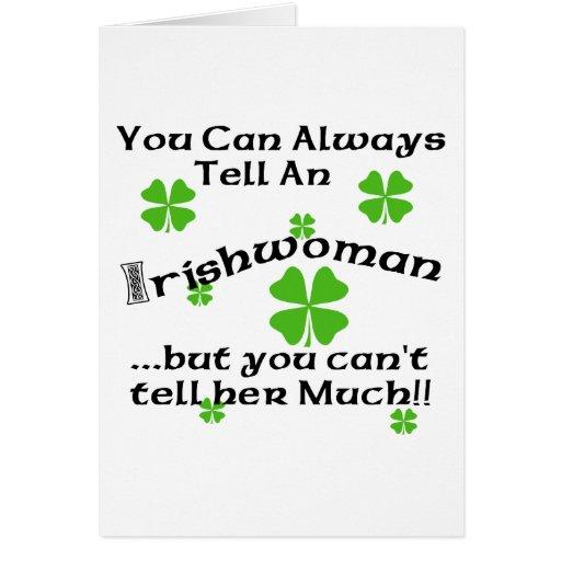 Femme irlandaise - vous pouvez toujours dire… cartes de vœux