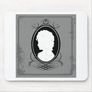 Femme noire et blanche de camée tapis de souris
