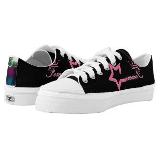 Femme Queen Black Low-Top Sneakers