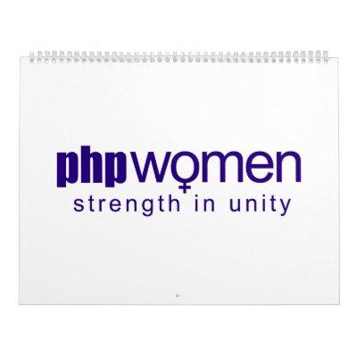 Femmes 2010 de PHP (grandes) Calendriers