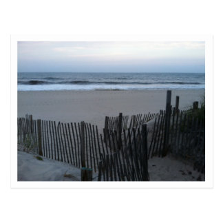 FENCE AND BEACH.jpg Postcard