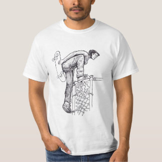 Fence Climber Skateboarder T-Shirt