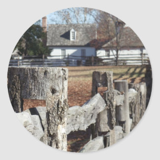 Fence in Colonial Williamsburg Classic Round Sticker