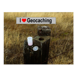 Fence Post Hide: Geocaching Postcard