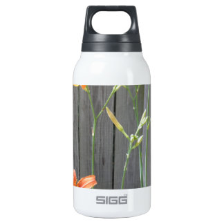 Fence with Lillies Insulated Water Bottle
