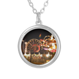 Fenced Fun Silver Plated Necklace