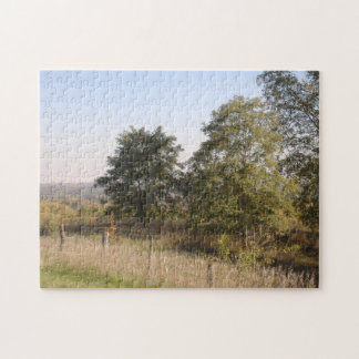 Fenced Hilltop View jigsaw puzzle