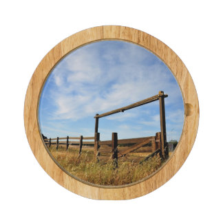 Fences in Field Rectangular Cheese Board