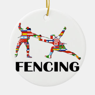 Fencing Ceramic Ornament