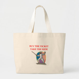 fencing large tote bag
